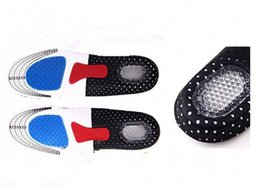 Wholesale Memory Foam Pad Shoe Inserts - 2016 Hot Sell ! 500 PCS Damping Ventilation Orthotic Arch Support Shoe Pad Sport Running Gel Insoles Insert Cushion Unisex