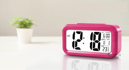 Wholesale Large Display Led Clock - Wholesale Modern Large-Display Digital Alarm Clock led with Calendar Electronic Desk Table Clocks