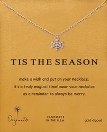 Canada easter gifts for wife supply easter gifts for wife canada with card cute dogeared necklace snowflakes pendant clavicle chain for wife girlfriend gift silver color from dropshipping suppliers negle Gallery