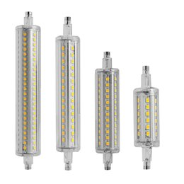 Wholesale Flood Light Dimmable - Wholesale-Newest 1PC Aluminum Dimmable R7S 2835 SMD LED Light 80mm 120mm 138mm 190mm Flood Lamp Replacement Home