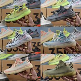 2b7b54d0a Adidas Originals Semi Frozen Yellow Yeezy Boost 350 V2 SPLY-350 Zebra  Beluga Triple White