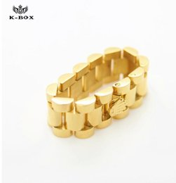 Wholesale Cool Crowns - 24K Brand luxury mens ring New Arrival Cool Golden Crown Stainless Steel Full Finger Ring for Men Punk Party Band Jewelry