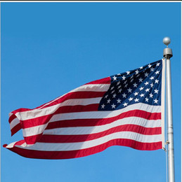 Wholesale Party Supply Usa - Jumbo 90*150cm 3*5ft American Flag National USA US FT Polyester Be Proud Show off Your Patriotism Wholesale Festive Party Supply Decoration