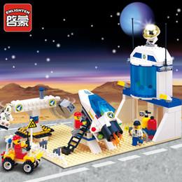 Wholesale Enlighten Space - Enlighten Military Series Space Station Astronaut 513 Building Blocks Mind Hands Active Model Assemble Eductional Toys Gift Legeo Compatible