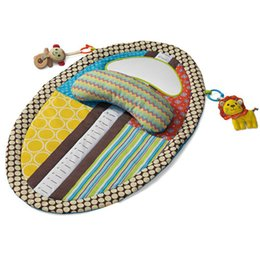 Wholesale Doll Crawls - Wholesale- Baby Playing Mat with Cute Cartoon Animal Plush Doll Multifunctional Crawling Mat Baby Toy