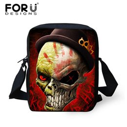 Wholesale Mini Travel Cooler - Wholesale-Cool Skull Printing Messenger Bag for Men Casual Mini Shoulder Bag Crossbody Bags High Children Boys Travel Messenger Bag