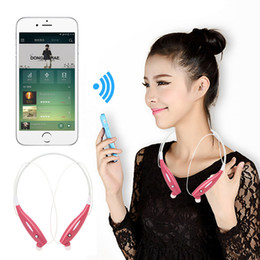 Wholesale Lg Hbs White - HBS-730 Wireless Bluetooth Headphones Neckband Hands Free Sport Stereo Head phone Earphone For iPhone 6 7 Samsung S7 S8 with Package