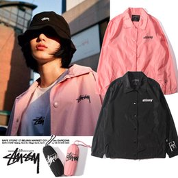 Wholesale Wide Breasted Woman - 2016ss Men Pink Thin Jacket Fashion Long Sleeve Baseball Man Bomber Jackets Casual Kanye West Palace Outerwear For Women
