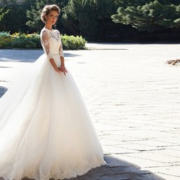 Wholesale Dhgate Ball Gowns - Long Sleeves Chinese Dhgate Designs White Wedding Dresses 2017 Wedding Dresses For Women Organza Hollow Back Bridal Dress