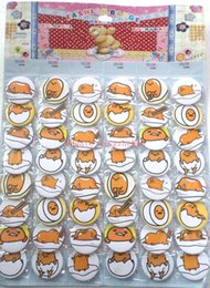 Wholesale Anime Badges - Free Shipping ! 5 sets (240 pcs 5 set) gudetama Anime Pattern children Doll Accessories Badge Button Pin 4.5cm Children Party New