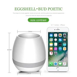 Wholesale Led Pot Lights Wholesale - Bluetooth 3.1 Smart Music Flower Pots Intelligent Real Plant Touch Play Flower Pot Colorful LED Light Long Time Play Bass Bluetooth Speaker