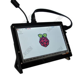 Freeshipping Himbeer-PU 7-Zoll-kapazitiver Touch Screen LCD-Acryl Stander / Holder Shield für Himbeer-Pi 3 Modell B Bord von Fabrikanten
