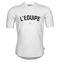 Vestuário marca euro on-line-Camisa dos homens T Marca BALRED Roupas Camiseta Tops L'EQUIPE Carta de Impressão de Algodão Tamanho Euro T-shirt de Alta qualidade de Fitness Tshirt