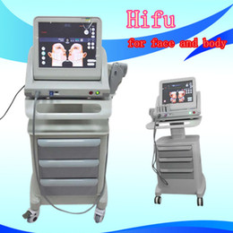 Wholesale Machine For Face Body - 2017 HIFU face lifting ultrasound wrinkle removal body slimming hifu portable machine for home and salon use