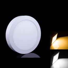 Panel de montaje en superficie led luz 18w online-6W 12W 18W 24W Panel LED de luz de superficie Superficie montada LED Downlight Techo abajo 85-265V Lámpara LED + Controlador LED