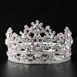 Wholesale Diamonds Bridal Headpieces - New Arrival Bridal Crystal Tiaras Wedding Accessories Headpiece Wholesale Mini Crown Tiara Free Shipping Hair Jewelry Accessories for Women