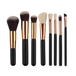 Wholesale Synthetic Essential Kit - 8pcs set Makeup brushes synthetic hair makeup brush essential kit professional makeup mini kit brushes top quality B0801 EMS DHL 30Set