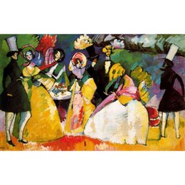 Wholesale Group Oil Paintings - Abstract modern art Group in Crinolines-Wassily Kandinsky oil paintings Canvas hand-painted