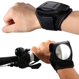 Wholesale Reflex Free - Bicycle Back Mirror Wristband Strap Reflex Rearview Cycling Portable Adjustable Arm Wear Bike Handle Back Mirror Free Shipping