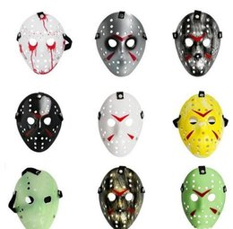 Wholesale Film Props Wholesale - 2017Archaistic Jason Mask Full Face Antique Killer Mask Jason vs Friday The 13th Prop Horror Hockey Halloween Costume Cosplay Mask in stock