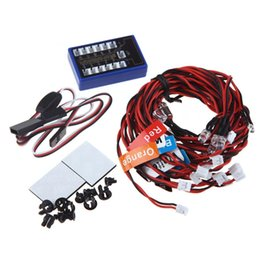 Wholesale Rc Light Kits - No Solder 12-LED Flashing Light Realistic Highlight Kit for 1 10 RC Car Truck