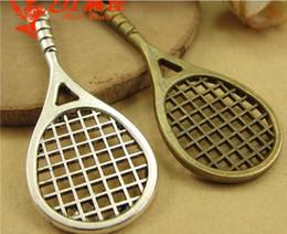 48 * 20MM Bronzo Antico Vintage Retro gioielli Corea nuova racchetta da badminton, racchetta da tennis ciondolo fascino perline, ottone sport fascino da ciondoli da badminton fornitori