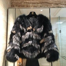 collo Sconti reale raccoon naturale pelliccia di volpe manica lunga di colore di pendenza del o-collo delle donne di moda inverno caldo ispessimento breve cappotto di pelliccia casacos SMLXL