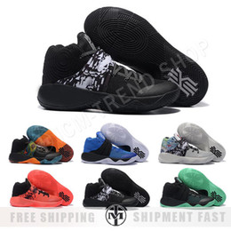 Wholesale Beige Gift Box - Cheap Irving 2 Mens Basketball Shoes Kyrie Irving 2 Tie Dye BHM All Star Basketball Sneakers high Quality With Box Best Men Gift 8-12