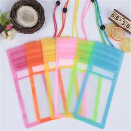 Wholesale Wholesale Lanyards Plastic Pouch - For iphone 7 waterproof case clear dry bag with Lanyard triple sealed screen touch neck pouch pack cases bags for iphone 8 7 plus samsung s7