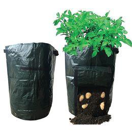 Wholesale Growing Garden Vegetables - Garden Potato Grow Bag Flowers Vegetables Planter Bag Flag for Harvesting Eco-friendly Waterproof Bag Garden planting Bags