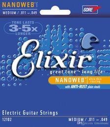 Wholesale 11 String Guitar - Elixir 12002 12052 electric guitar strings 09 10 11 strings elixir Violao 12000 12050 12077 12012