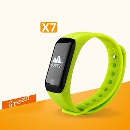 Wholesale Female Sports Wear - X7 intelligent bluetooth bracelet heart rate monitoring calls information remind waterproof sports wear hot style