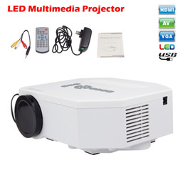 Wholesale Projector Tablets - Wholesale- C30 Mini Pico Portable TV Projector AV VGA A V USB SD with HDMI For Video Games TV Movie Compatible With Phone Tablet PC