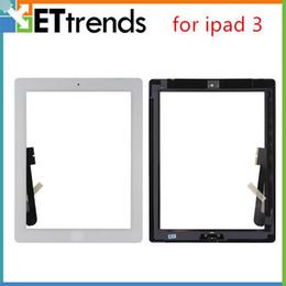 Pour iPad 3 Écran Tactile Digitizer Assembly avec Bouton À La Maison 3M Adhésif Colle Autocollant Pièces De Rechange De Réparation Noir Blanc AA0008 ? partir de fabricateur