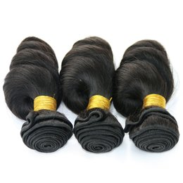 Wholesale Malaysian Loose Curl Weave Hair - .Bouncy Curly Brazilian Peruvian Malaysian Indian Loose Wave Human Hair Weave Cheap Loose Curl Brizilian Hair Extensions 3 Bundles Deal