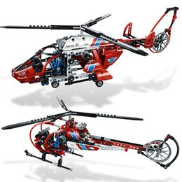 Wholesale Helicopters Rescue - Decool 3355 3356 AeroKing Rescue Helicopter building bricks blocks Toys for children Compatible with Lepin Bela 8068