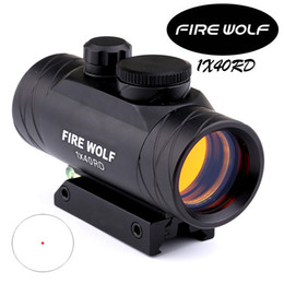 Wholesale Dot Bubble - 2017 NEW FIRE WOLF 1X40 Hunting Tactical Holographic Red Dot Rifle Scope Sight with Bubble Level Optical instruments