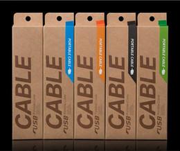 Canada Boîtes universelles d'emballage de vente au détail de boîte de papier de Kraft Câble USB vide pour l'iphone 6S plus câble de chargeur de téléphone portable de Samsung 1M 1.5M Offre