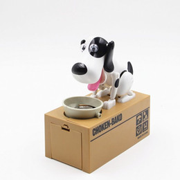 Wholesale Money Saving Pots - CHOKEN-BAKO My Dog Piggy Bank Cute Eat Coins Electronic Dog Money Cans Save Pot Saving Coin Box Creative Gift Home Decorators
