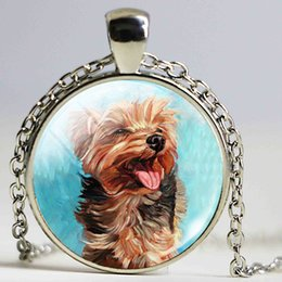 Wholesale Pet Designs Silvers - Charms Jewelry Simple Dog Image Design Jewelry Beagle Necklace Cute Pet Dog Jewelry Dog Picture Locket Pendant Gift for Her