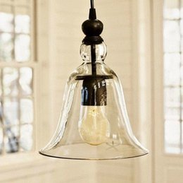Wholesale Kitchen Lamp Shades - New Antique Vintage Style Glass Shade Ceiling Light Pendant Lamp Fixture U1