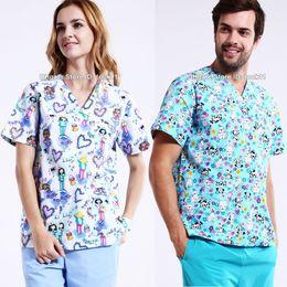 Wholesale Uniform Scrubs - Plus size hospital women medical scrub medical clothing dental clinic beauty salon nurse surgical suit spa work wear nursing uniform medico