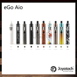 Wholesale Wholesale Joyetech Batteries - Joyetech eGo AIO Kit New Color Version All-In-ONE Style 2ml Capacity 1500mah Battery Adjustment of Air Inflow 100% Original