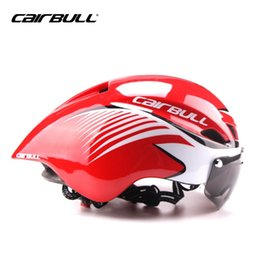 Wholesale bike helmets for men - CAIRBULL Cool Bike Helmets For Adults Men Cycle Mountain Biking Helmets Sale With Goggles TT road bike helmets Pink Ladies 56-61cm #131