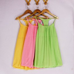 Wholesale Ladies Sequin Shirts - 2017 Summer Casual Pink Yellow Green cotton vest tops lady sleeveless shirt sweater breathable under-waist sequins Camisole Tops #21