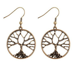 Wholesale United Life - 2017 New Earrings Europe And The United States Life Tree Jewelry Wisdom Tree Wheel Creative Chandelier Earrings