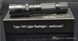Wholesale Diving Torch Light - Hot Sale New 1101 Type Edc Linternas Light Cree Led Tactical Flashlight Lanterna Self defense Torch 18650(built-in) ePacket Free Shipping