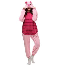 Wholesale Pink Pig Movie - Unisex Adult Adult Kigurumi Onesie One piece Sleepwear Animals Pajamas Piglet Pig