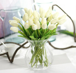 Wholesale Tulip Flower Art - PU single small silk tulip artificial simulation flowers for house adornment decoration by arranging art G499