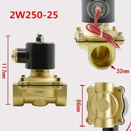 """Wholesale Electric Oil Pressure - 1"""" Port Pneunatic 2 2 Way Electric Solenoid Valve Water Air Gas Oil,Normally Open 2W250-25 DC AC 12V 24V 110V 220V"""